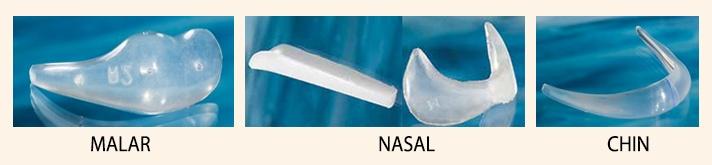Silicone Implants- Malar, Nasal, Chin - Plarecon